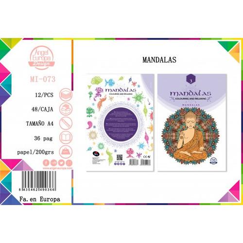 MANDALAS A4 colouring book  Buddha collection