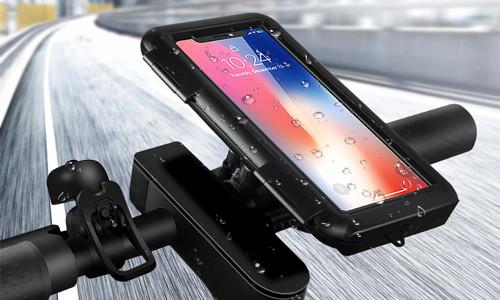 2 in 1 360° Rotation waterproof waterproof case & Bicycle Handlebar Holder