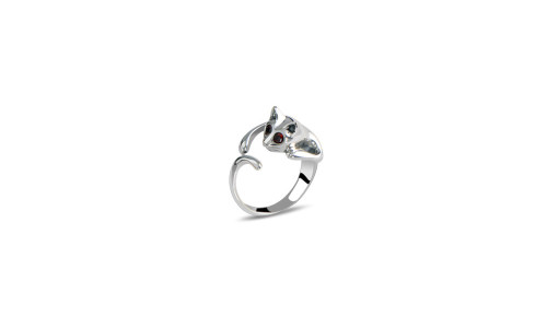 Alloy Diamond Personalized Opening Cat Ring-LA