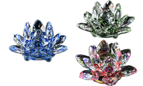 Crystal lotus ornaments craft home decoration products