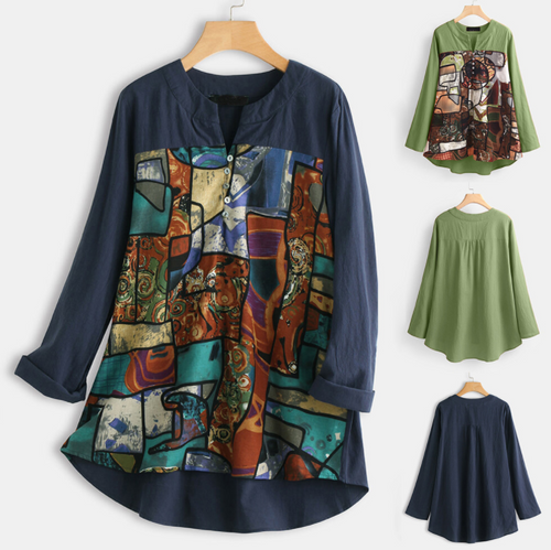 Ella abstract pattern casual top