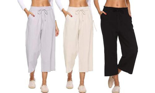 NEW-Beach pants loose drape high-rise straight wide-leg pants-LA