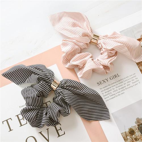 Strips  scarf hair scrunchie