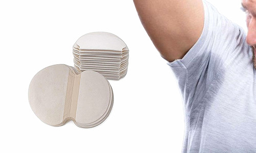 Pack of 10 Disposable Self adhensive Sweat Pads Patches Antiperspirant Underarm Armpit Guard