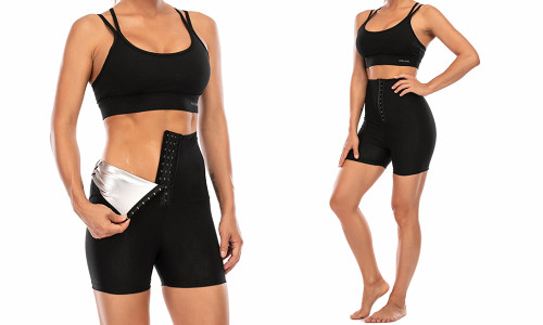 2in1 Adjustable Women's waist shaper and slimming training shorts
