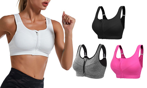 Posture correction front zip  Sport  support bra