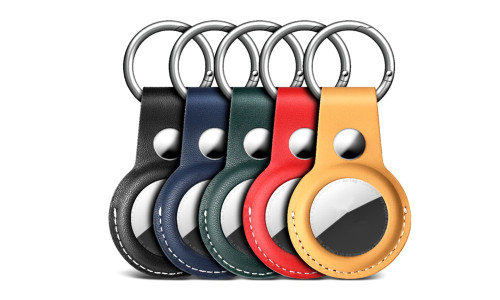 AirTag compatible  PU protection case with key chain