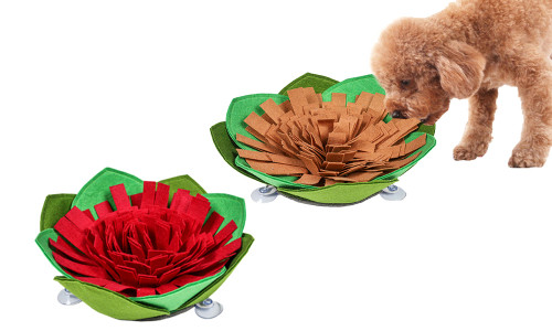 Cabbage shape Pets Snuffle Mat with suction pads
