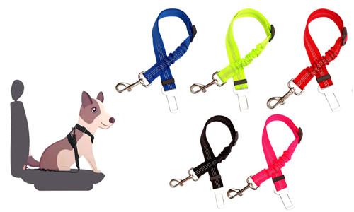 Anti Shock Dog Car Seat Belt Clip Bungee Lead Vehicle Travel Safety Harness-LA