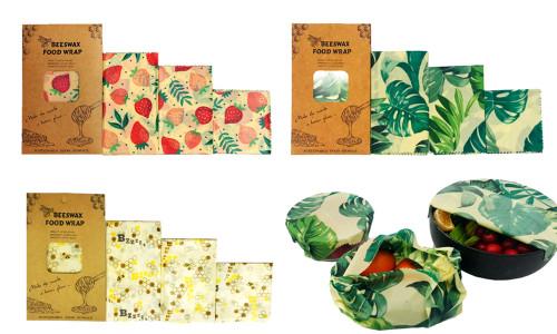 3 Pack Natural Reusable Beeswax Food Wrap Paper Bees Wax -la