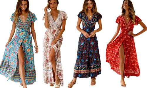 Bohemian maxi dress-la