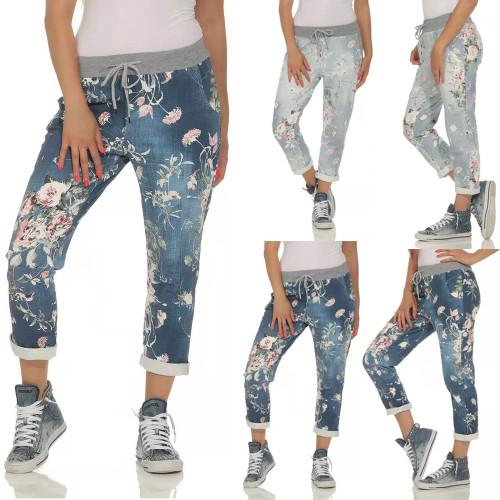 NEW-Women's Floral Print Sweatpants