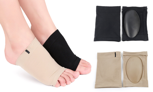 1 pair of Gel Plantar Fasciitis Foot Arch Support Sleeve Foot Treatment