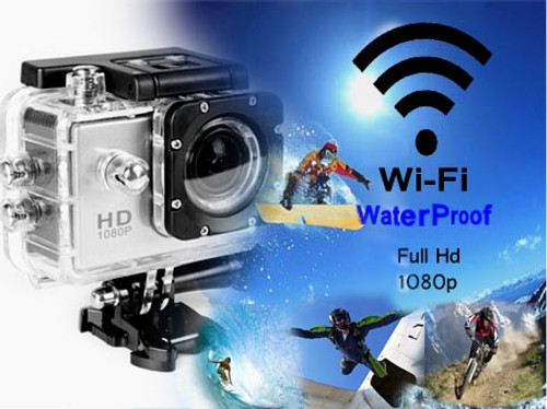 AdventureProPlus Waterproof HD1080p Camera - Wi-Fi Edition with accessories