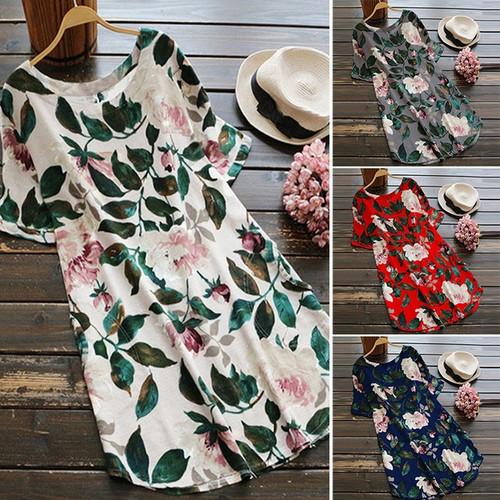 NEW-Women's Floral Print Dress-LA