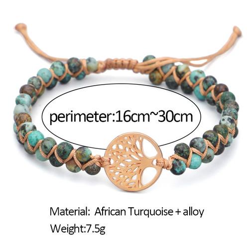African turquoise Tree of Life bracelet-la
