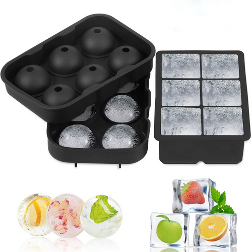 NEW-6 Giant Ice Ball Cube Maker Use0030