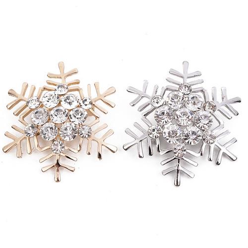 Christmas Brooch reindeer and Snowflake