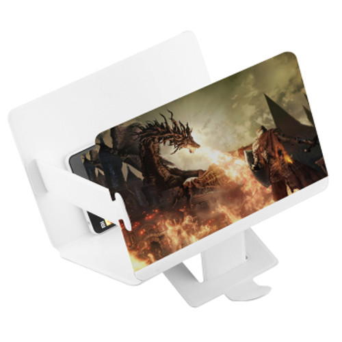 Mobile Phone Screen Magnifier Foldable Portable 3D HD Expander with Stand Holder