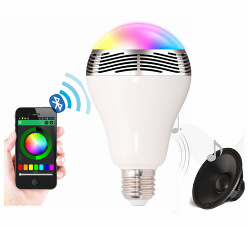 Smart LED Light Bulb with APP control and Bluetooth Speaker