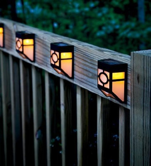 Solar Panel Fence LED Light