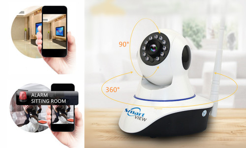 SmartView Wireless IP camera with night vision and motion detection alarm