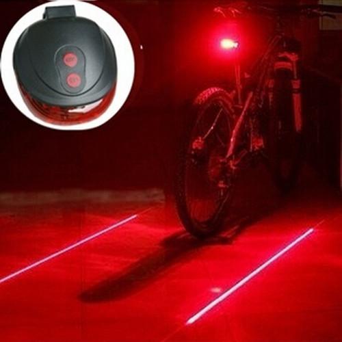 Bicycle Tail Light with Virtual Bike Lane