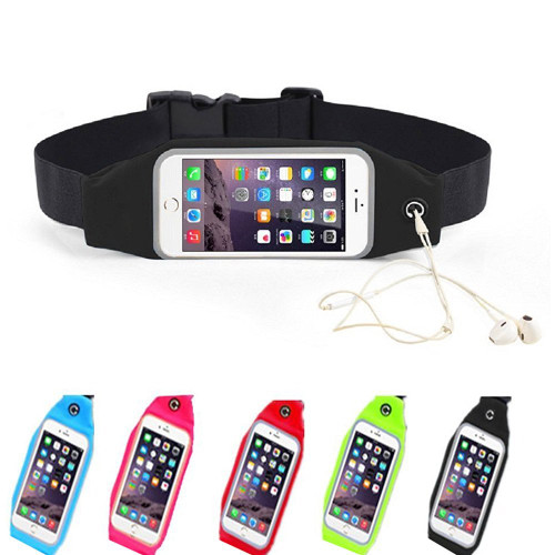 Outdoor Sport Waist Pack, Running Sweatproof Reflective Belt Pouch with Touch Screen Window for iphone 6 6s, Samsung Galaxy S5 S4 Mini