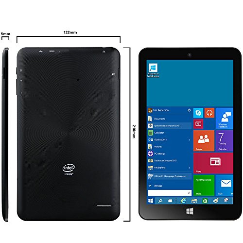 "SmartPro8"" Windows10 Tablet PC Black"