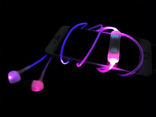 led sport earphones