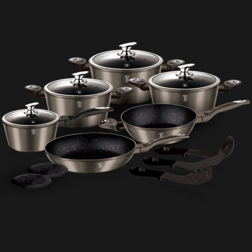 Berlinger Haus 15 pcs cookware set Carbon Metallic Line