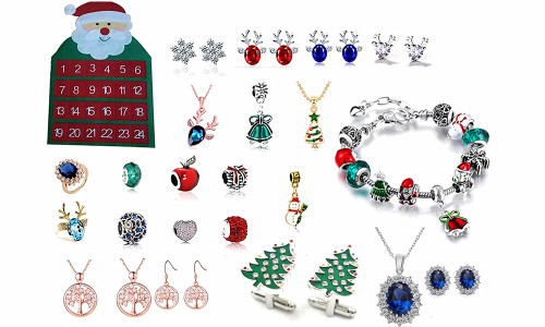 Christmas Calendar with 24 Mystery Jewelleries