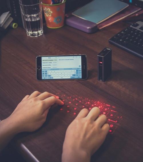 Pre-order laser keyboard for smartphone