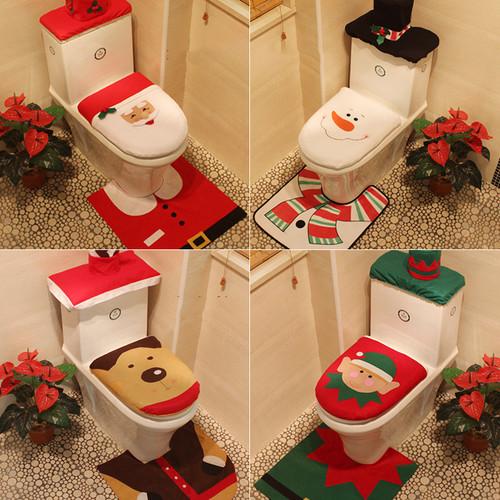 Christmas toilet 3 piece set