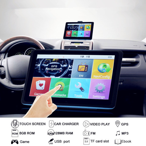 "SMART 7"" HD 8G CAR NAVIGATION 7 INCH GPS NAVIGATOR SAT NAVIGATION SYSTEM"