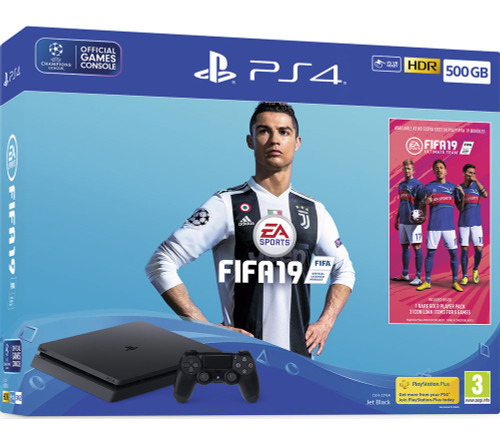 SONY PlayStation 4 with FIFA 19 - 500 GB