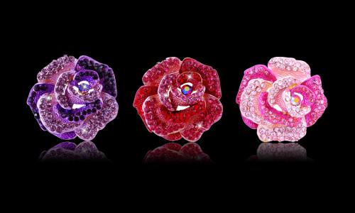 Crystal Rose Brooch