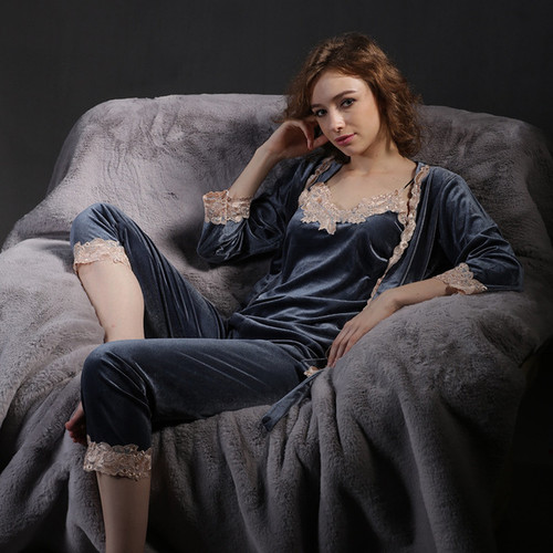 Velvet Luxury pajamas 3pcs