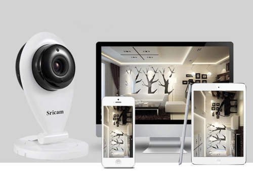SriCam 720P HD Two-Way Audio 360° Rotatable Wireless Smart Security Camera