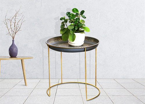 Vintage Retro Style Side Occasional Metal Table