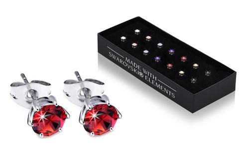 Set of 7  Crystal Earrings