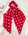 Polka dot scarf hair scrunchie