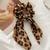 Pack of 2 Satin Leopard print Scrunchies