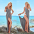 Summer Beach Body Wrap and long dress