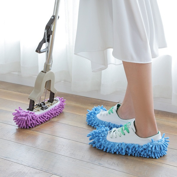 Pair of Multifunction Household Cleaning Mopping Shoe Cover and Mop Head Cover