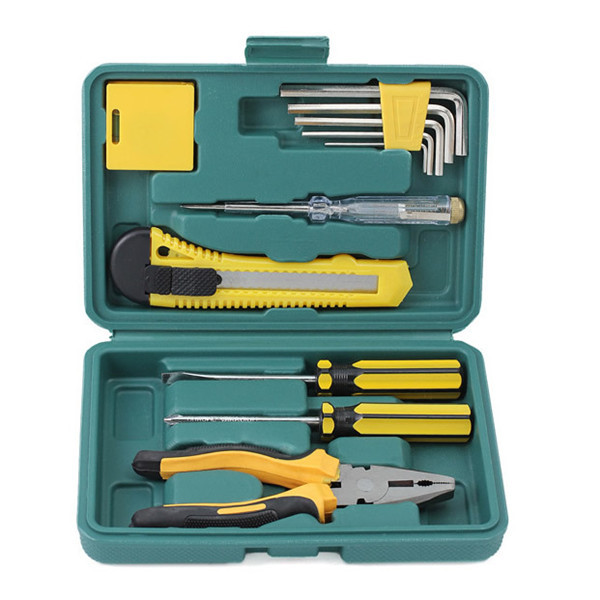 Roadside Emergency Tool-and-Auto Kit (12-Piece)