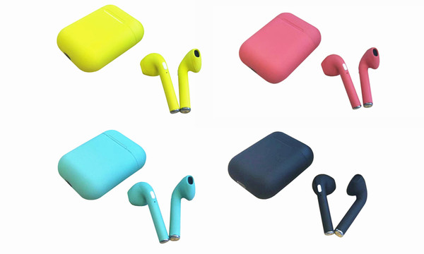 i9 Bluetooth Earbuds with charging case and colour options