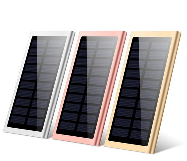 Dual USB Solar Ultra Thin Power Bank 10000mAH
