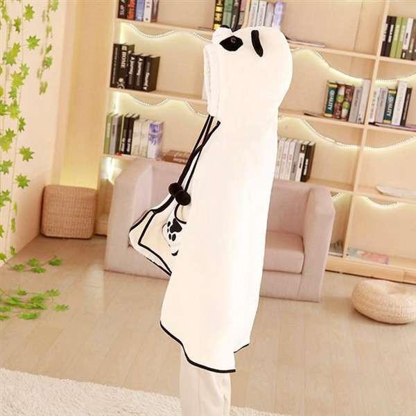 cartoon warm plush panda cloak cape funny cloth for kids