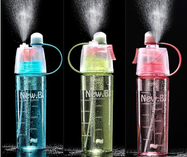 Customised Sport Cycling Mist Spray Water Bottle 600ml